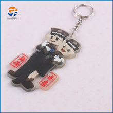 cheap logo brand custom rubber 3d soft pvc motorcycle keychain
