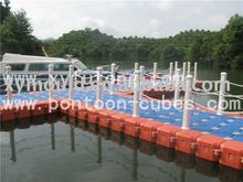plastic and pontoon floating jetty floats