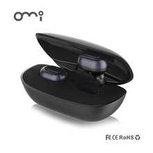 Bluetooth Headphones, OMI Dual Wireless Earbuds True Mini Twins Stereo Bluetooth Headset V4.1 Earphones with Built-in Mic