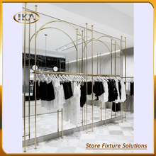 Luxury lady fancy store display rack retail fixture design for fashion accessories display