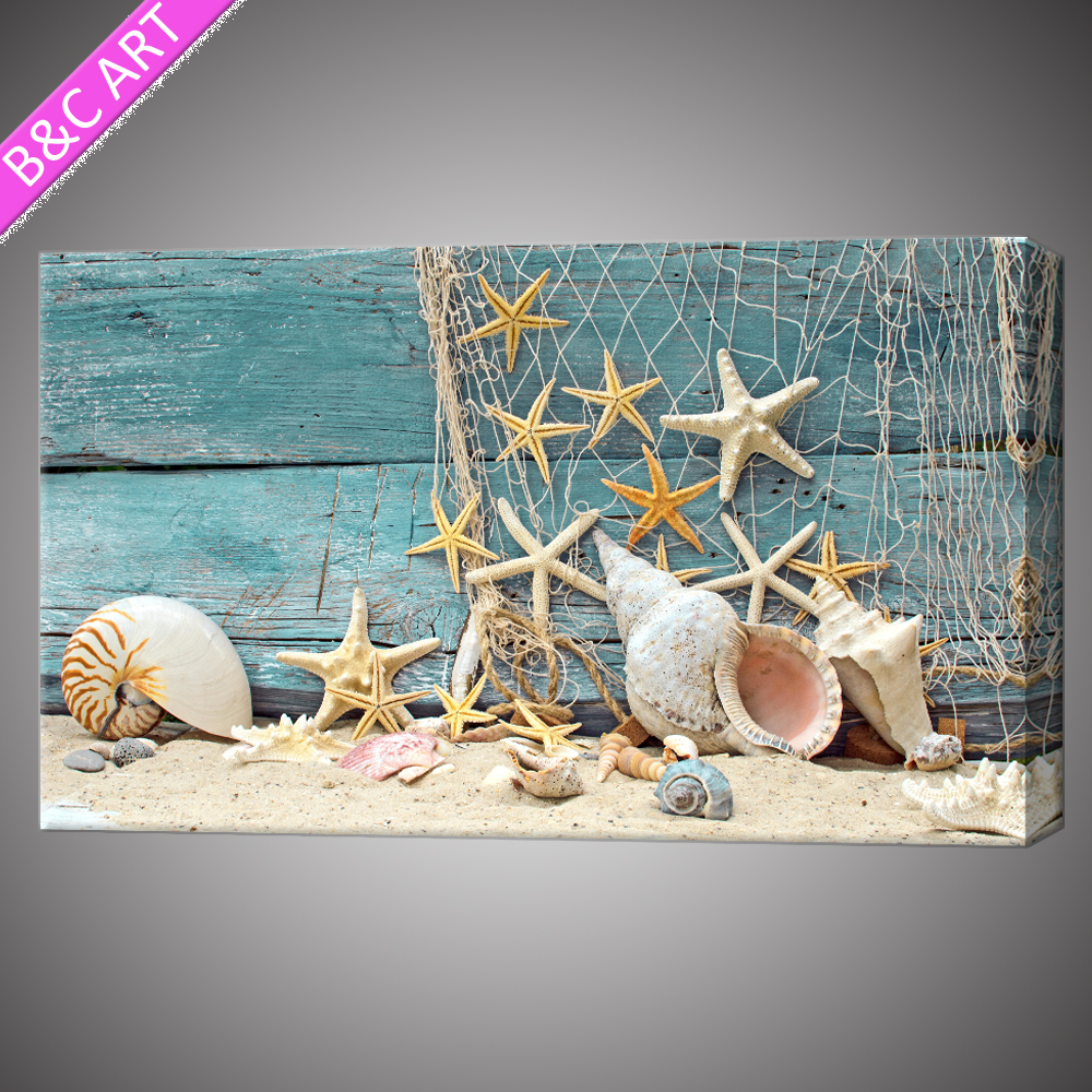 Seascape art work beach canvas paintings wall pictures for living room