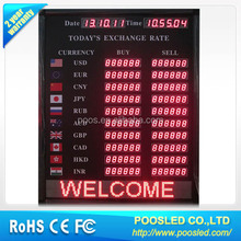led exchange currency billboard \ led exchange currency screen \ led exchange foreign banner