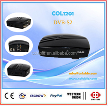 Free to air DVB-S2 satellite receiver with strong mpeg4 decoding hd/sd COL1201