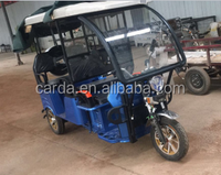 Battery operated tuk tuk bike vehicle with 3 wheel and roof in India