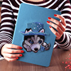 anti-shock color printed tablet cover pu leather smart case for ipad air12 with multicolor and design