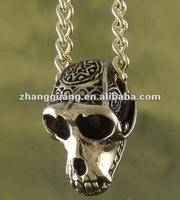 Monkey Necklace Monkey Skull - Bronze, on 24