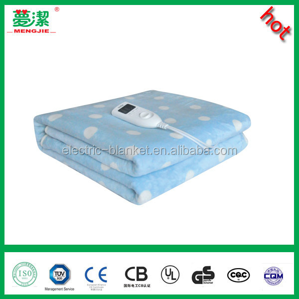 flannel electric blanket with timer