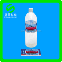 pvc/pof/pet mineral water bottle Shrink film label