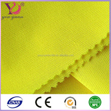 yellow 100% polyester printed high visibility fluorescent fabric
