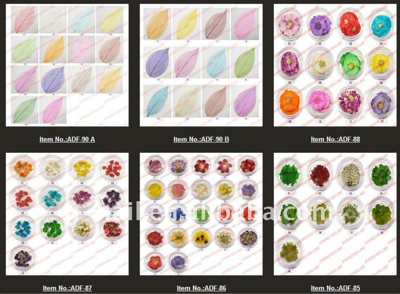 2011 Zara nail art dried flower decoration /dry flower for nail decoration