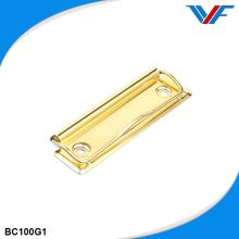 Rugged appearance gold metal square paper clip