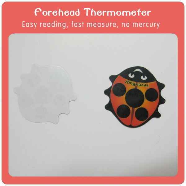baby forehead thermometer card with oral thermometer