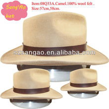 Making large camel stetson fedora hat men