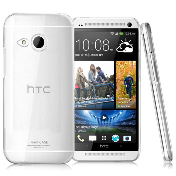 Hot selling imak crystal transparent cover case for HTC One mini 2 M8 mini
