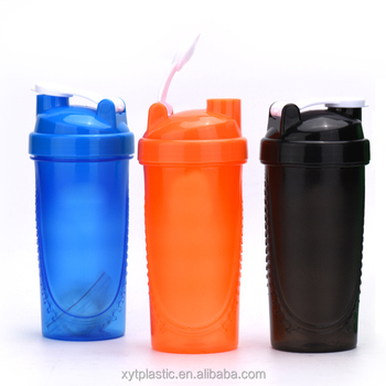 600ml Shake Gym Zipper Protein Shaker Mixer Cup Drink Whisk Bottle