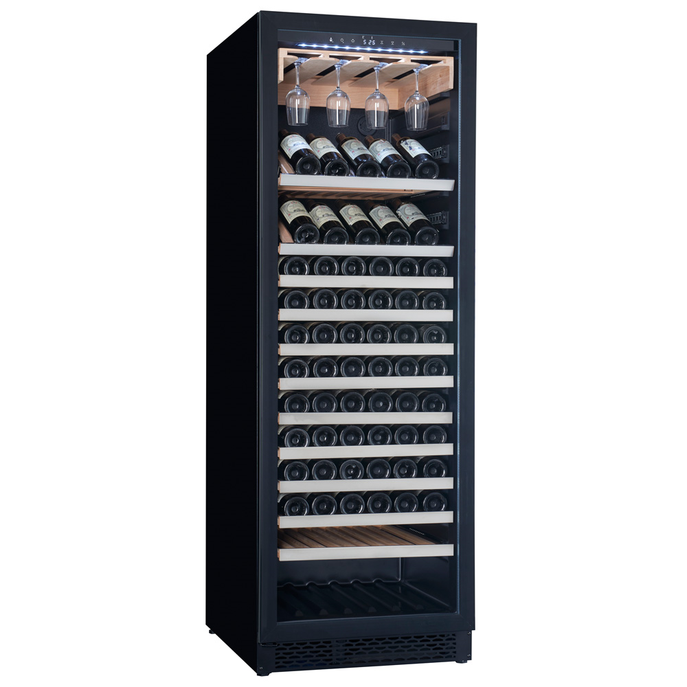 Home Kitchen Tall Stainless Steel Dual Zone Wine Refrigerator With Glass Door