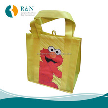 Promotional pp coated custom printed recycled eco non woven bag cheap gift bags