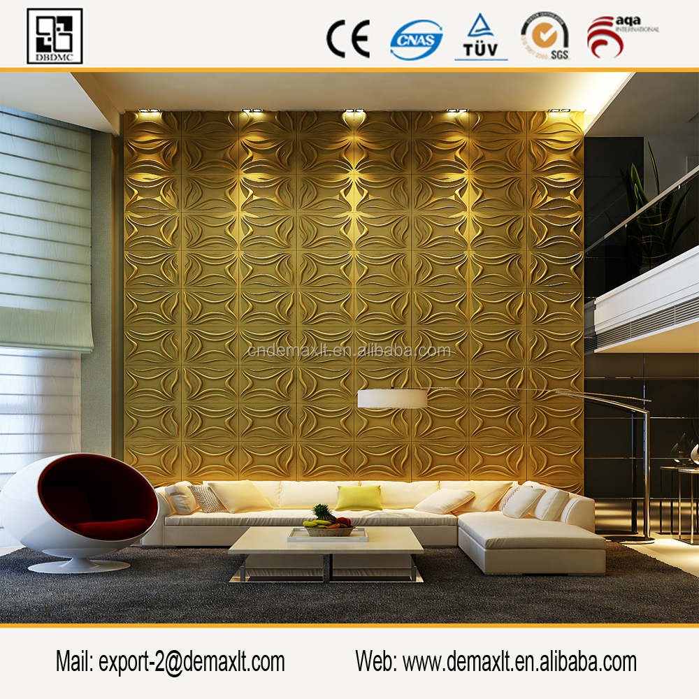 Decorative Wall decoration PVC 3D Board Wall Panel for wall covering