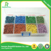 Colorful Triangle TPE Rubber granule for Runway / Artificial grass /Playground
