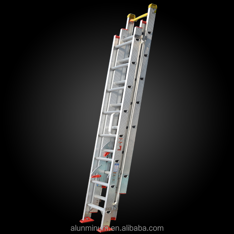 Step Ladder with Agility Rope Multipurpose 3 Section Extension Aluminum Ladder Manufacturer