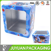 New product rectangular large metal tin storage box/large metal container wholesale