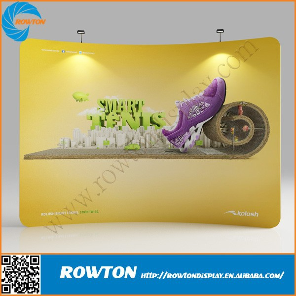 Aluminum curved frame tension fabric banner trade <strong>show</strong> exhibit display