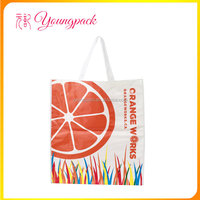 Promotional full color printing pp woven tote shopping bag