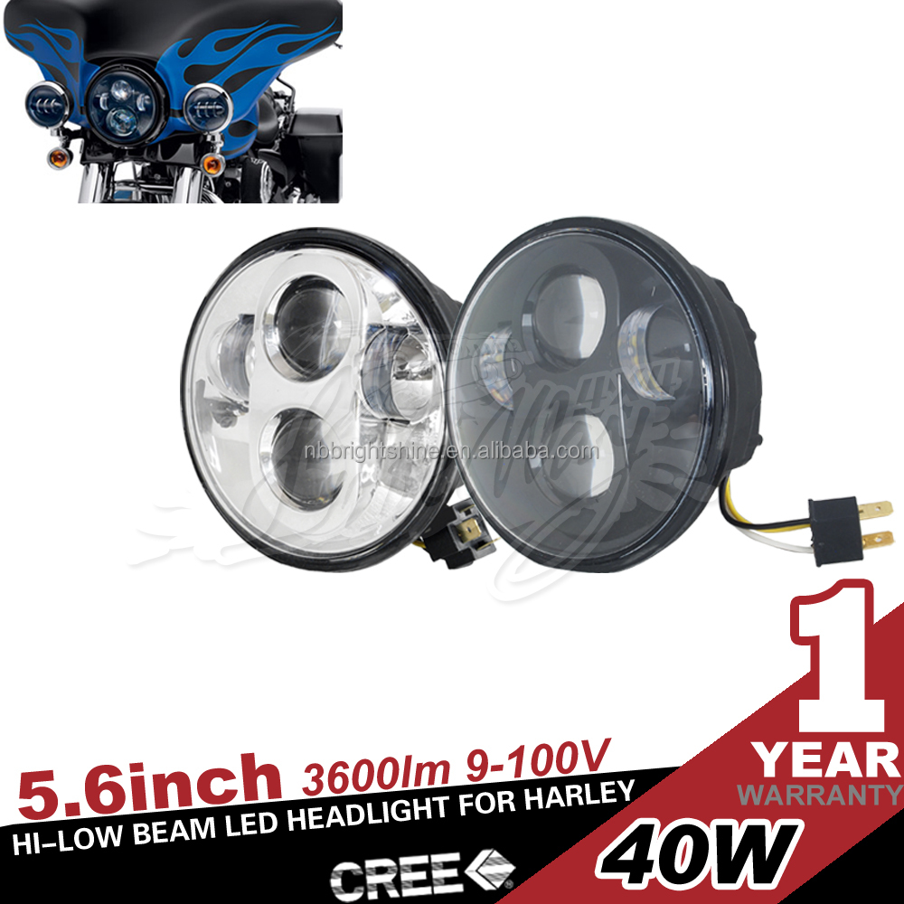 High Beam Round Front Motorcycle Led Headlight for Harley Davision Jeep