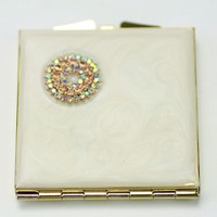 jewelry compact mirror ,ideal cosmetic mirrors ,souvenir makeup mirror, HQCM290478