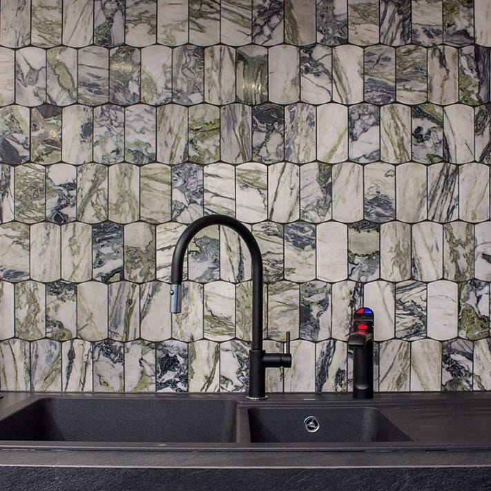 Factory price mixed material imported honed kitchen backsplash mosaic tile