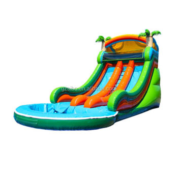5420 Creative design funny inflatable water slide with pool for water games playing