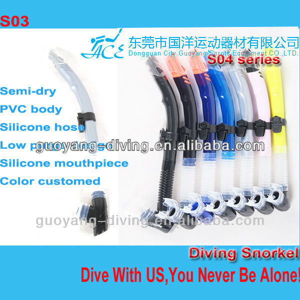 China wholesale slicone snorkels for adults diving sea swimming
