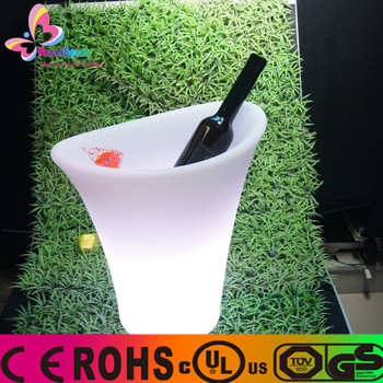2015 LED bar ice bucket/wine/champagne cooler/holder/beer tube for party/6 bottles