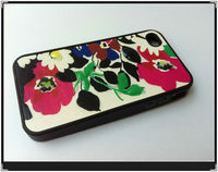 whosale TPU fancy flower Cover Case For iPhone 4S 4G,many models