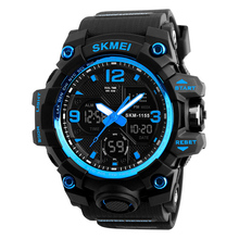 Moda relojes sport waterproof wr 50m analog digital boy brand wrist watch army military shockproof watches for men luxury