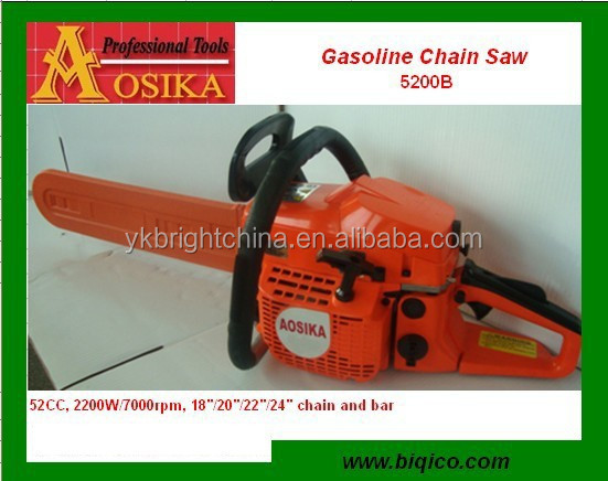 new gasoline chainsaw 5200BS 52cc yd52 with easy starter