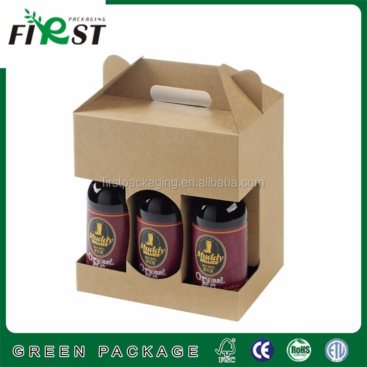 Cardboard suitcase for 6 bottle wine box