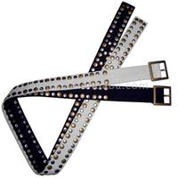 2014 latest Fashion Fabric Canvas belt with Metal Beads