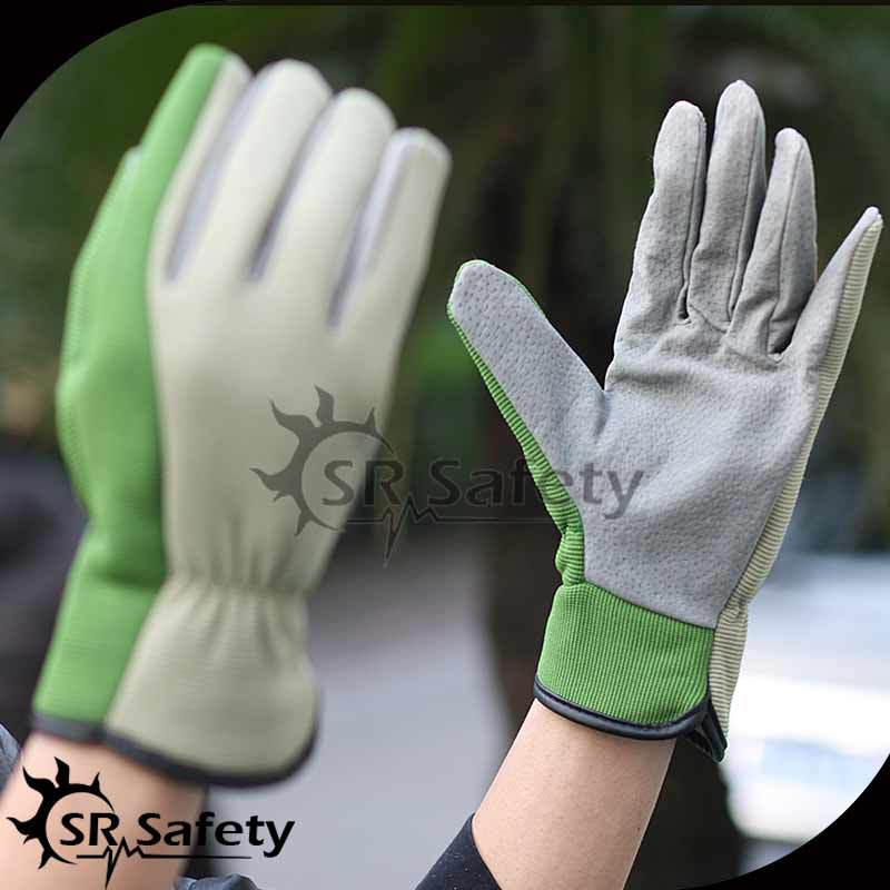 SRSAFETY Soft driver leather gloves,truck drivers driving gloves