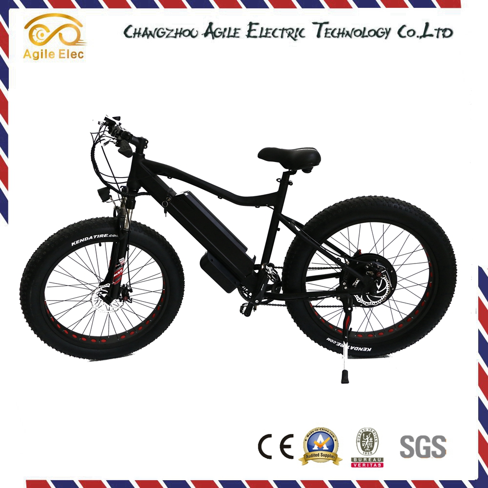 China Made 48V 500W Black Brushless Fat Tire Electric Motor Bike