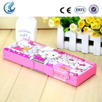 Hello kitty flash transparent pencil case for school kids