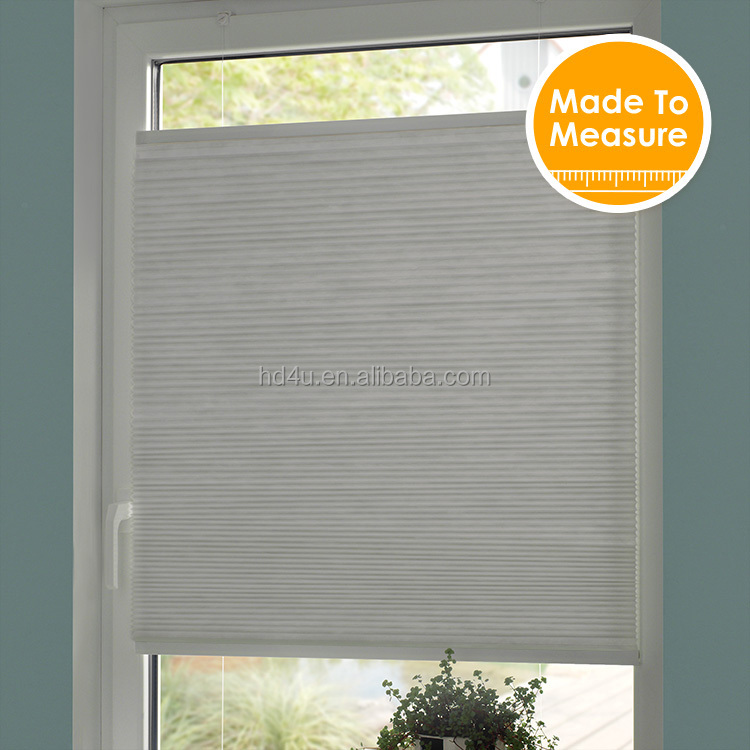 Honeycomb blinds top down bottom up window frame system blackout fabric