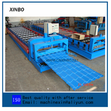 Standard Color Steel Sheet Roof Glazed Tile Ridge Cap Roll Forming Machine