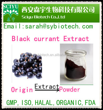 Water soluble blackcurrant juice concentrate