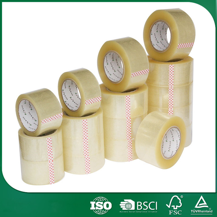 Custom packing china manufacturer sticky easy tear sealing adhesive bopp packing tape