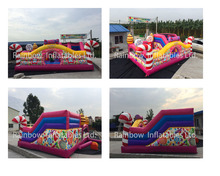 Candy Inflatable Playground Bouncy House Inflatable Candy Funcity For Sale