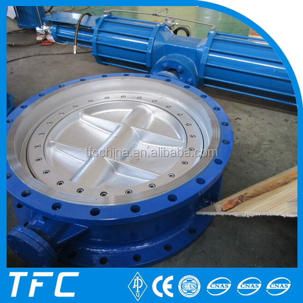 Carbon steel A216 WCB 40 inch on-off pneumatic water butterfly valve, electric water valves
