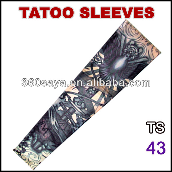 TS43 Favorites printer Compare 92% nylon and 8% spandex multi colors customized logo tattoo sleeves stencil