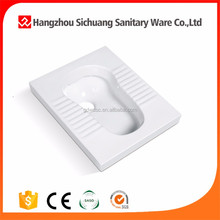 Factory in chaozhou bathroom sanitary ware washdown squatting pan toilet without trapway