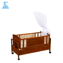 661D Customized Modern Safety Antique Economic Baby Cribs With Drawer